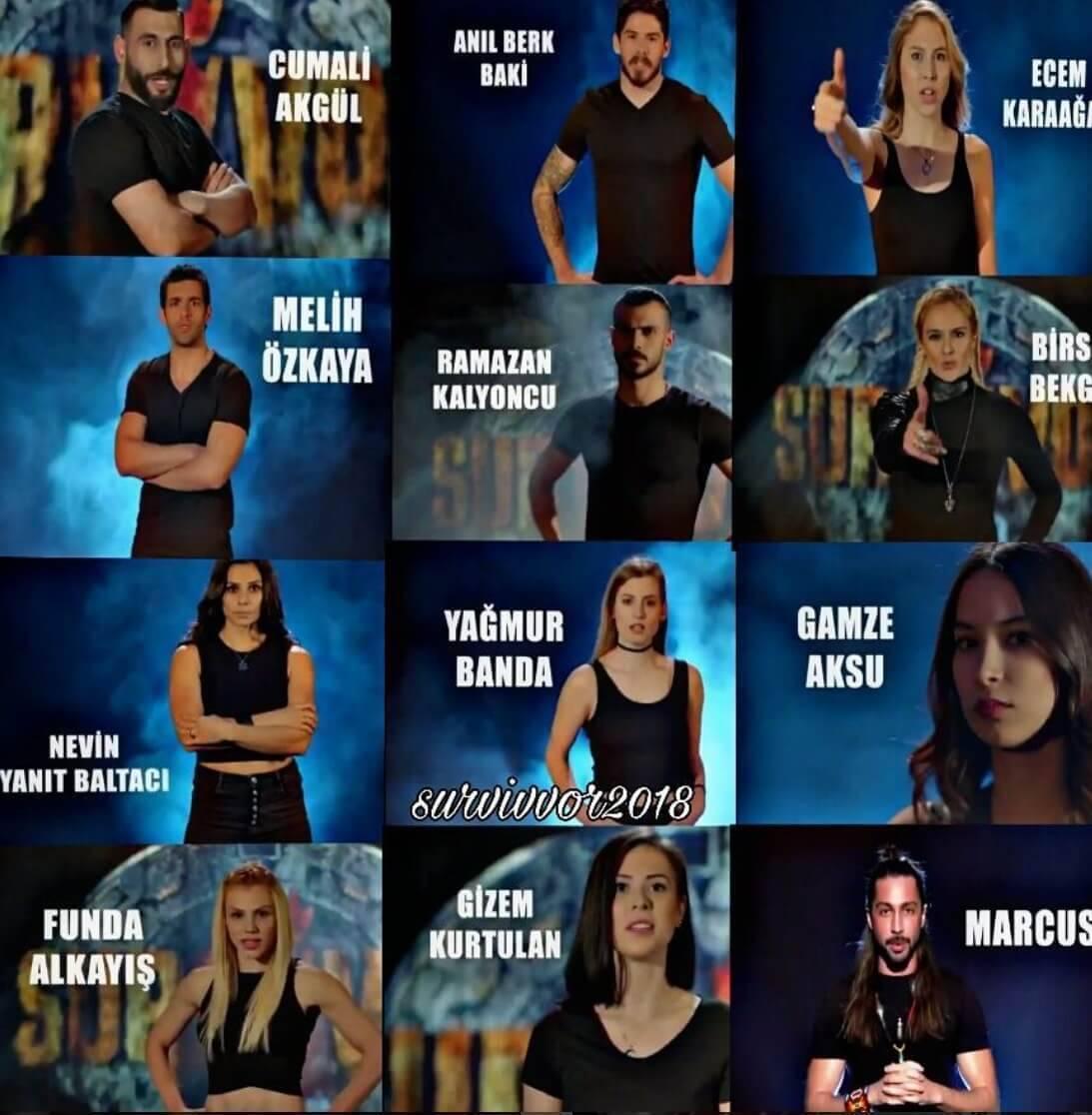 Survivor 2018 All Star Gönüllüler Yarışmacıları 1