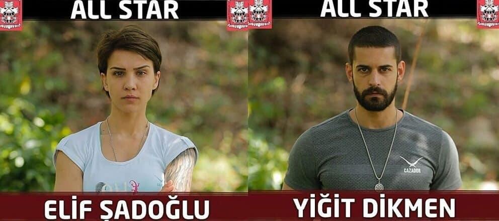 Yiğit Dikmen ve Elif Şadoğlu Survivor 2018
