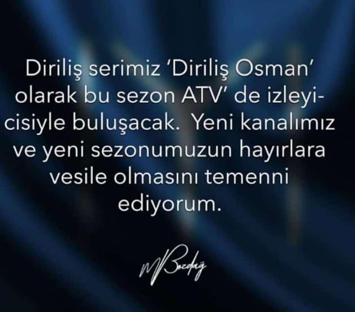 Diriliş Osman Atv