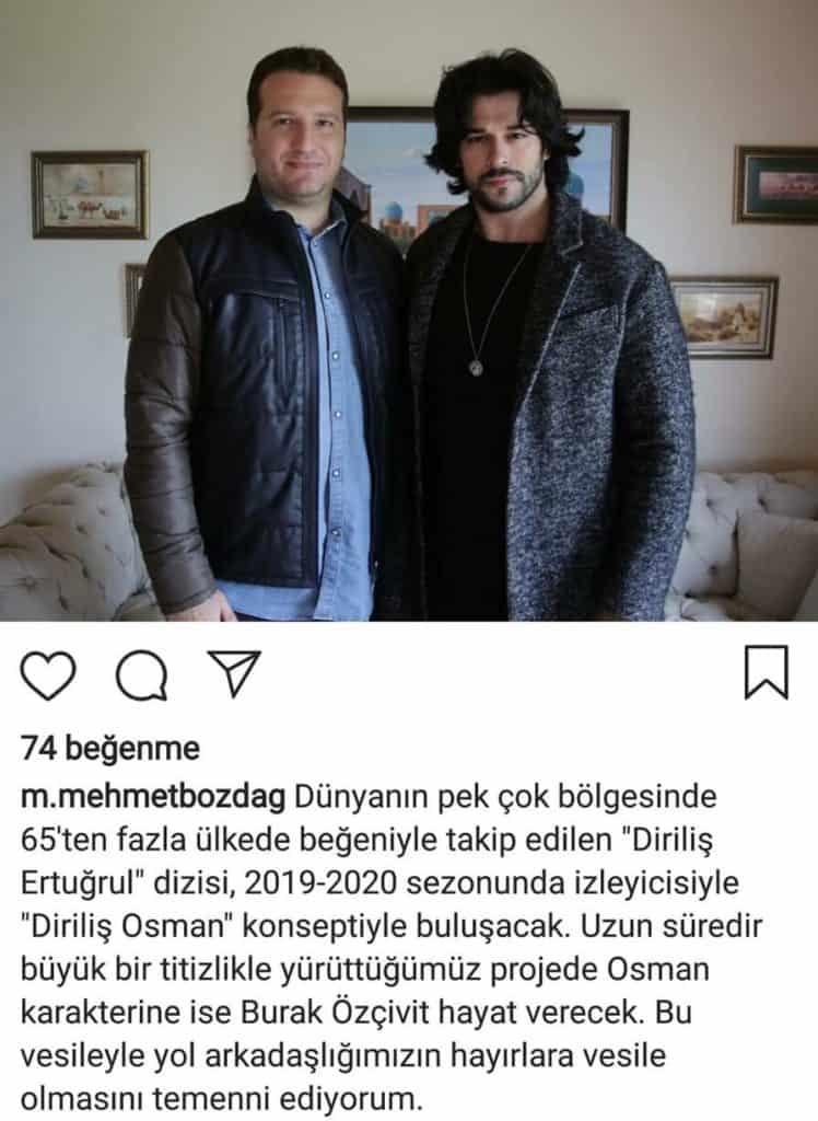 Diriliş Osman oyuncuları