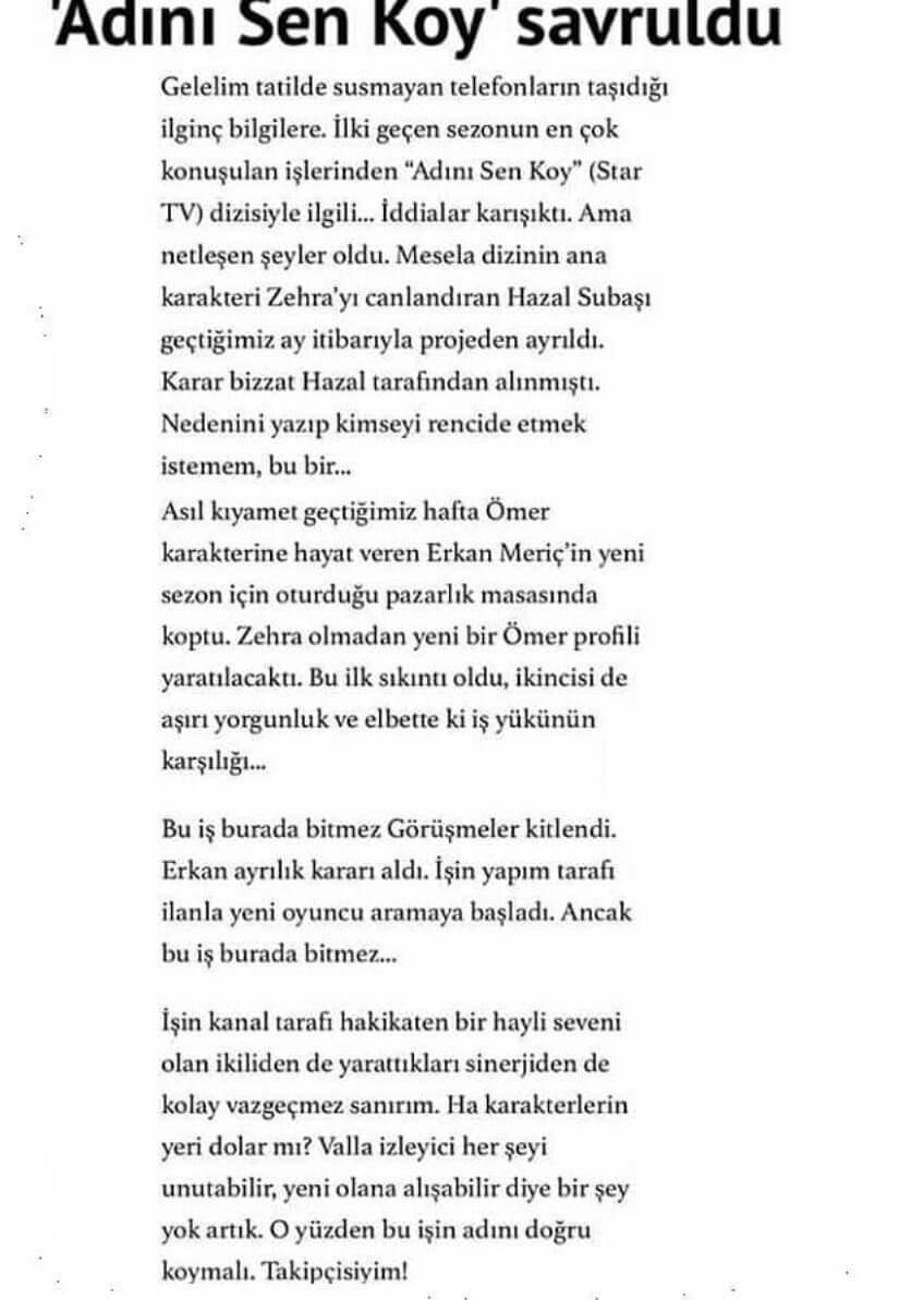 Erkan Meriç ve Hazal Subaşı ayrılık açıklaması