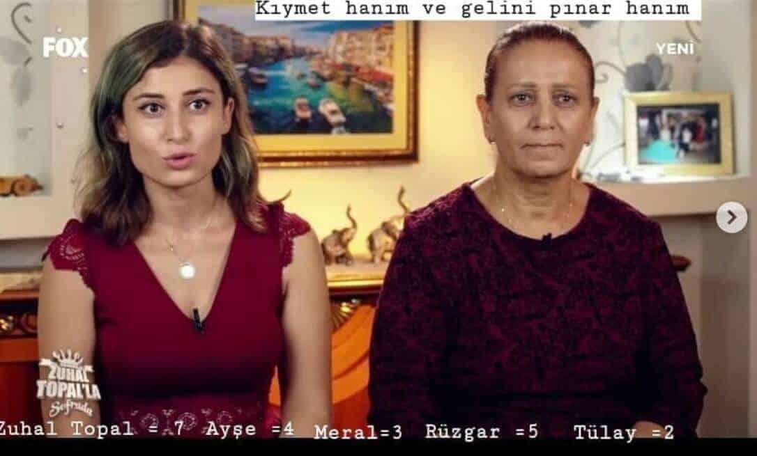 Kıymet hanım ve gelini Pınar hanım