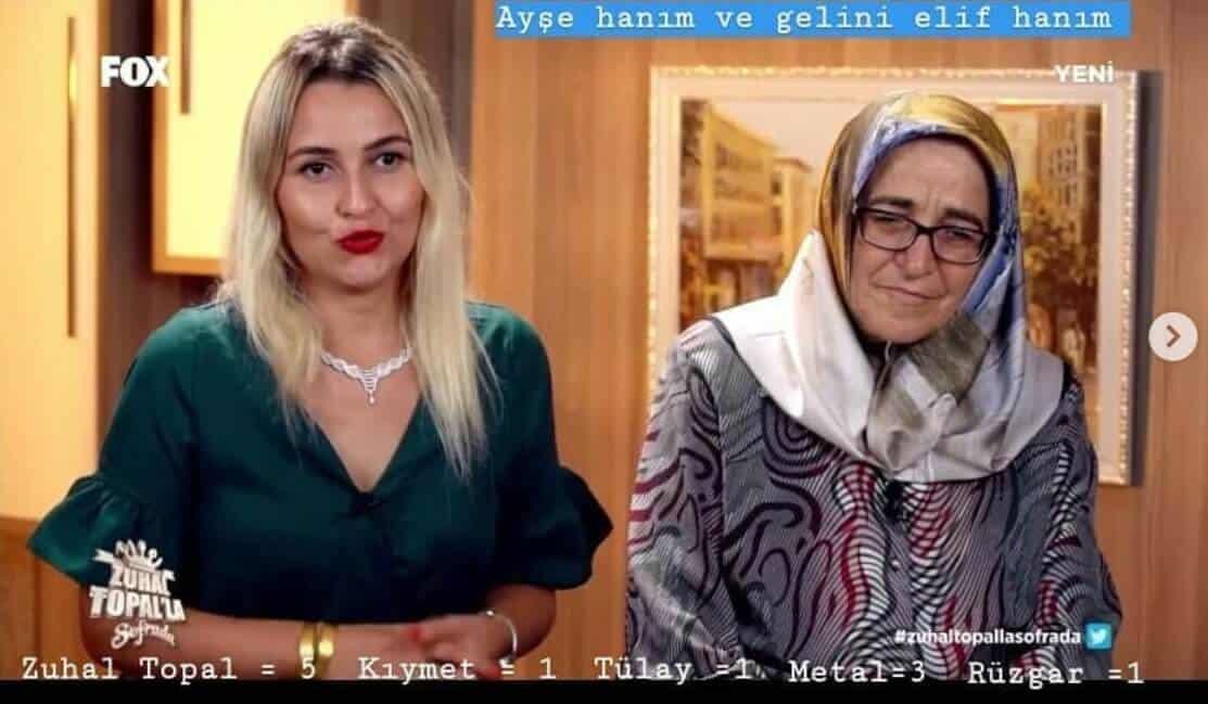 Zuhal Topalla Sofrada Ayşe hanım ve gelini Elif hanım