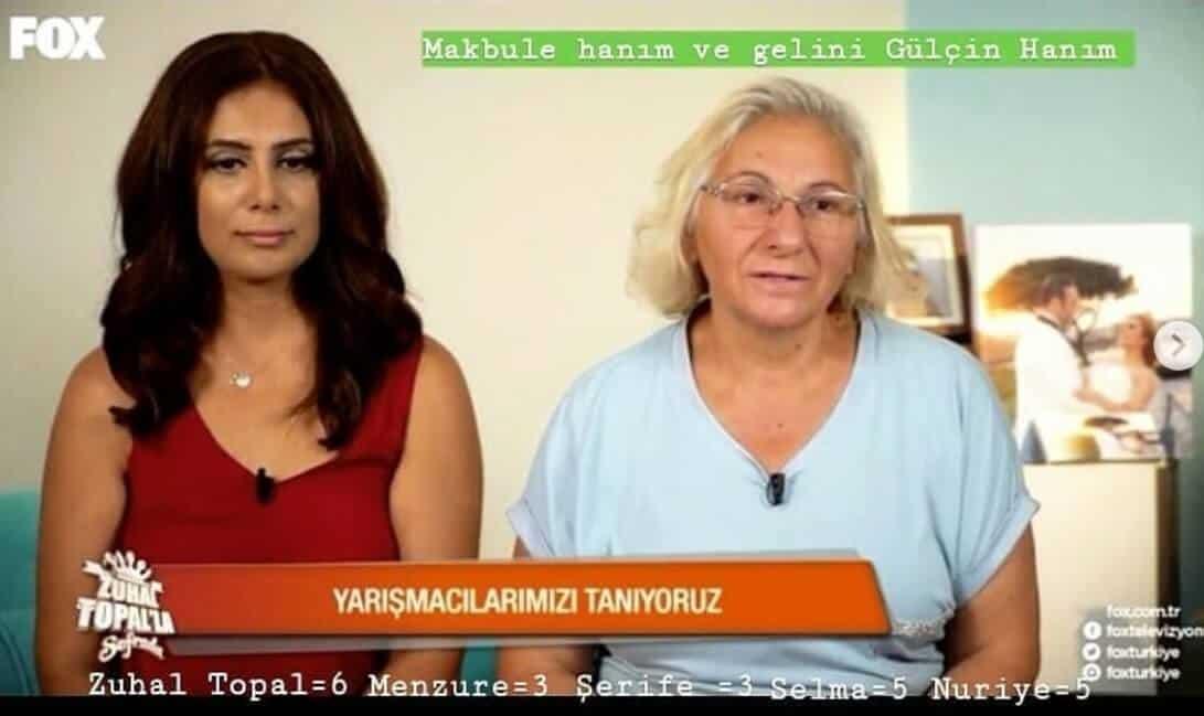 Zuhal Topalla Sofrada Gülçin ve kaynanası Makbule hanım