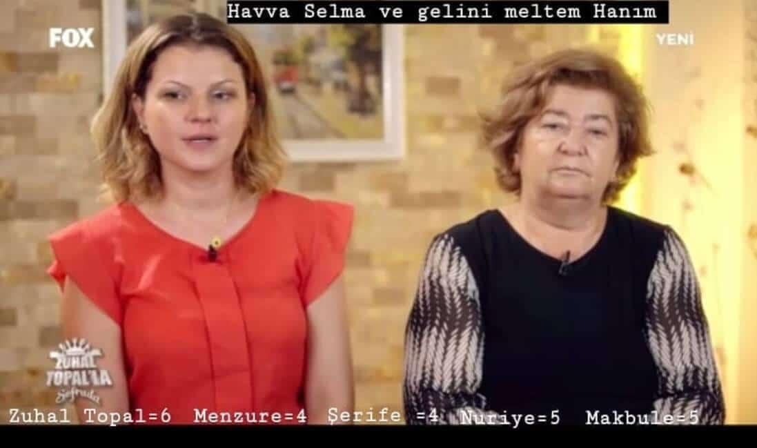 Zuhal Topalla Sofrada Meltem ve kaynanası Selma Havva hanım