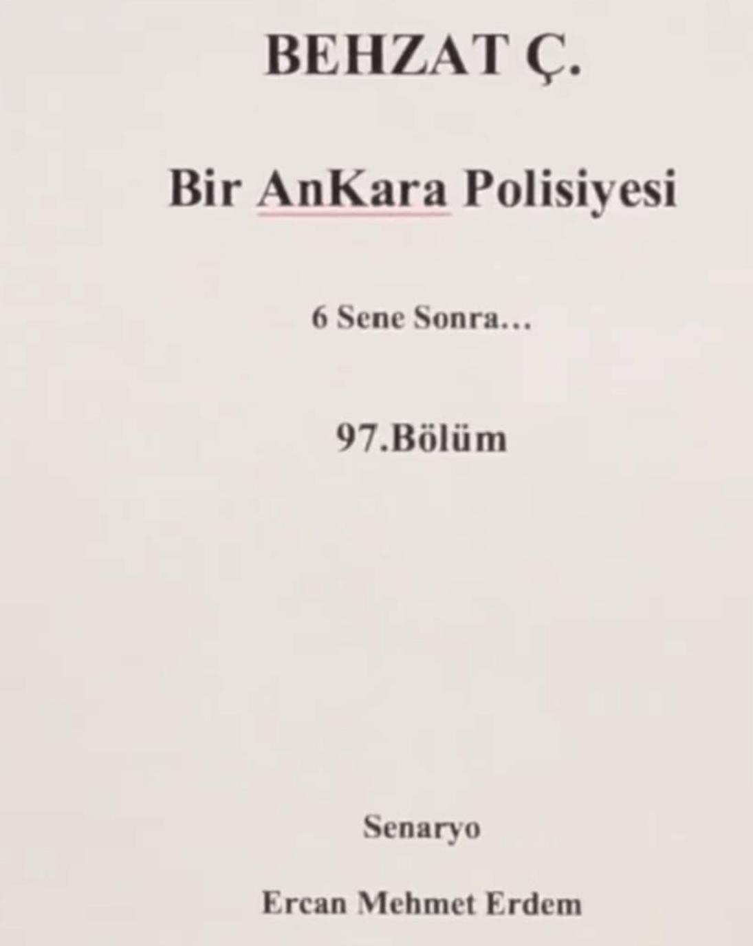 2019da Yeni Başlayacak Diziler Behzat Ç Bir Ankara Polisiyesi