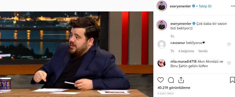 Eser Yenenler Show Yeni Sezon Ne Zaman Başlayacak