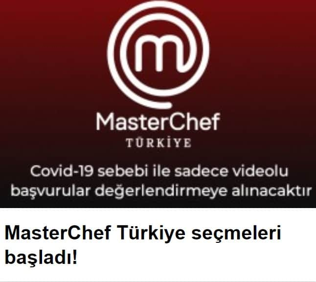 MasterChef Türkiye 2020 başuruları