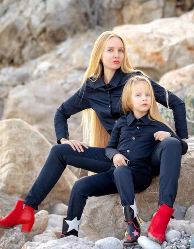 Stefani Çağlar  ve annesi Alya Çağlar
